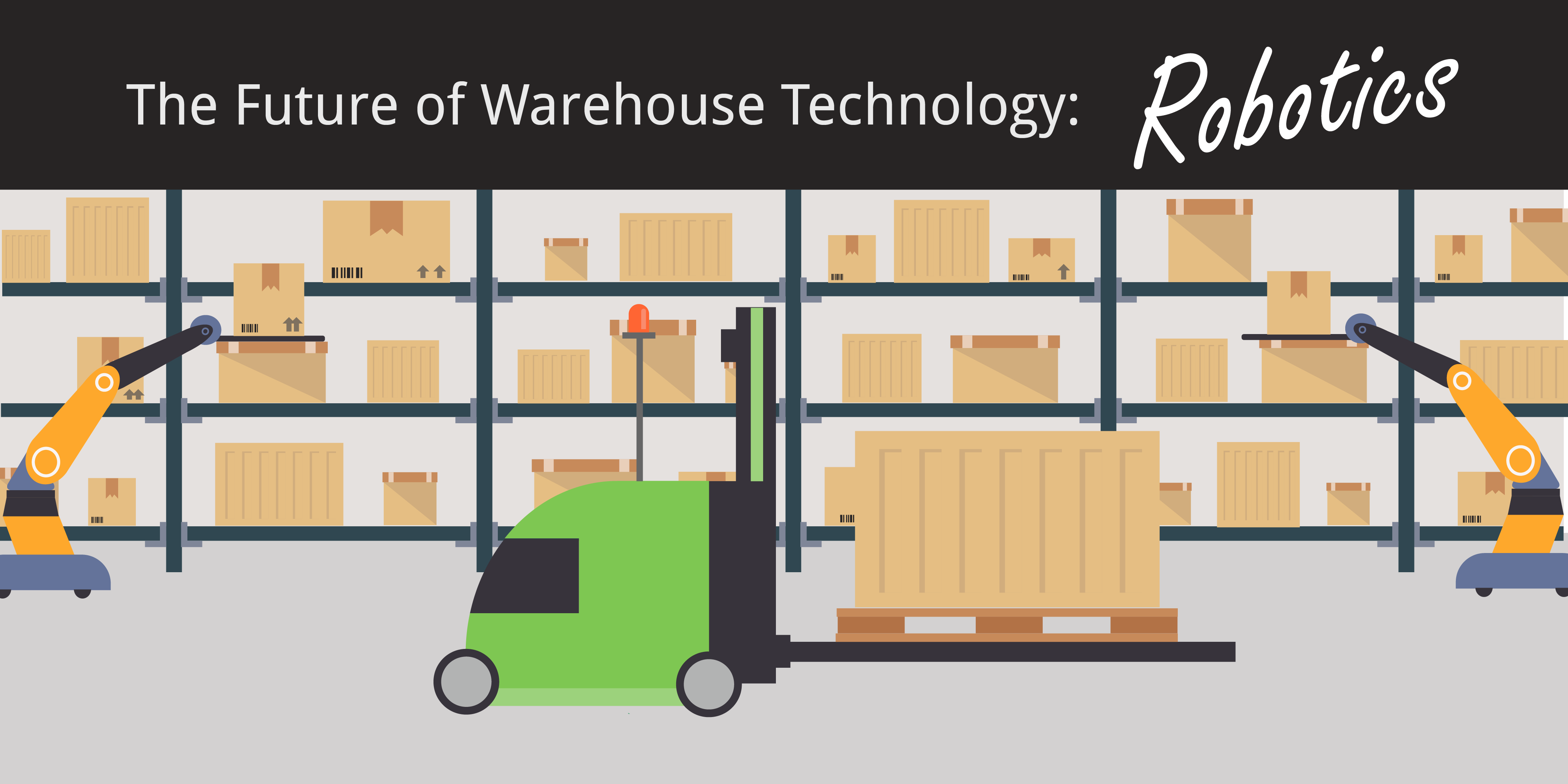 warehouse technology agv robotics inventory boxes on shelves flat icon graphic