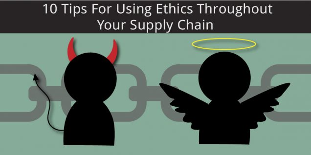 Angel and Devil using ethics in supply chains
