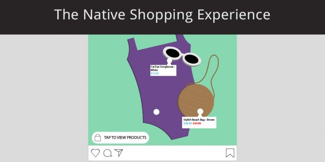 An example of the native shopping experience on Instagram